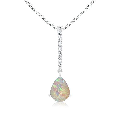 Angara Pear-Shaped Opal Solitaire Pendant SE04N3b7ke