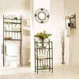 Bronze Scroll 3pc Bathroom Set