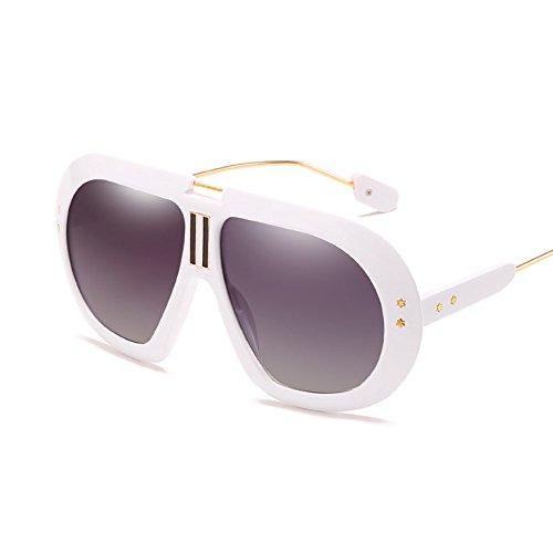 UV Gafas White Gafas Protección Conducción Hombre Gafas para Sol GAOJUAN Sol Big Box Gafas Ligeras Unisex Corrientes Personalidad De De Pesca De Black Deportivas Antideslumbrante zwHHOx4SR