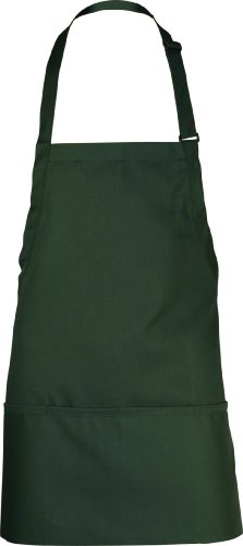 Chef Works Unisex Three Pocket Apron, Hunter Green, 24-Inch Length by 28-Inch Width