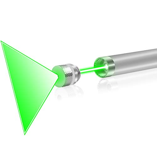 FreeMascot Green Light Line Beam Presenter Pen with Hand-free Tail Switch (Green Laser Pointer)