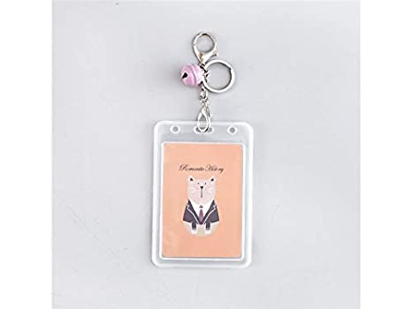 a94038edb6f7 Amazon.com: Gelaiken Keyring ID ID Card Cover Cartoon Bus Pass ...
