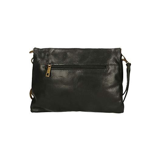 Cm Nero Chicca 27x18x3 Borsetta Made In Mano Borse A Bag Italy Pelle qqwPrvUFxn