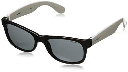Polaroid Sunglasses Unisex-Child P0300s P0300S Polarized Wayfarer Sunglasses, A-BLACK WHITE, 42 - Sunglasses Polaroid Kids