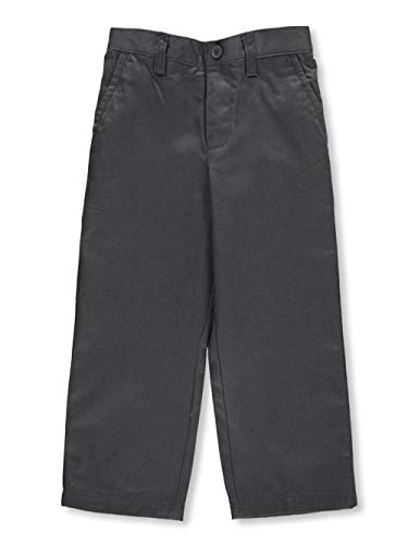 French Toast Little Boys' Toddler Pleated Wrinkle No More Relaxed Fit Pants - Gray