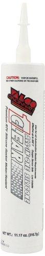 Valco Cincinnati 71112 Clear All-In-One Silicone with Nozzle - 11.17 oz. Cartridge