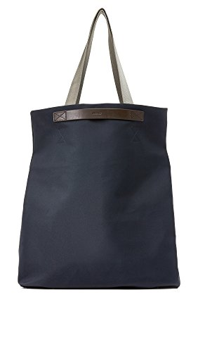 Mismo Men's M / S Flair Tote, Navy/Dark Brown, One Size by Mismo