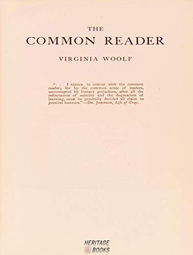 The Common Reader, Second Series (The Death Of The Moth And Other Essays)