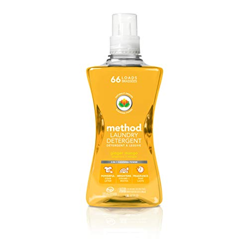 Method 4X Concentrated Laundry Detergent, Ginger Mango, 53.5