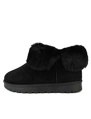 Bottines Fourrées Cendriyon Pinkai Chaussures Noires Noir Femme 1qxPS