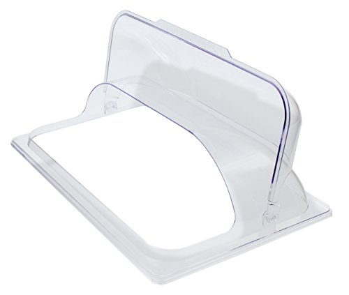 Crestware PDC1F Polycarbonate Dome Flip Cover, Full, Clear
