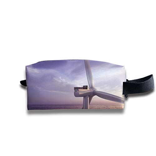 Offshore France Sgre Offshore Wind Turbine Portable Pencil Bag Coin Purse Pouch Stationery Storage Organizer Case Cosmetic Makeup Brush Holder with Durable Zipper for Students - Offshore Desk Phone