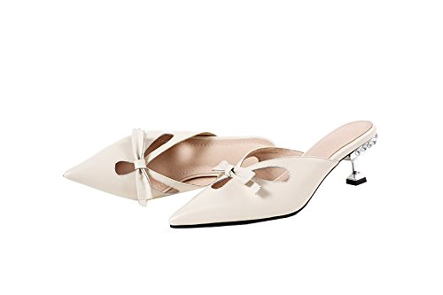 8CM 4 Cone on Off Vaneel dennea White Slippers Heel 5 Women UK Slip 3 qawAxtESx