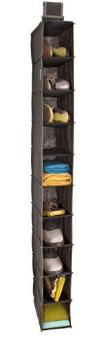ClosetMaid 31464 10-Shelf Hanging Closet Organizer, Gray