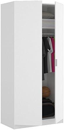 LIQUIDATODO ® - Armario de 2 puertas de 80cm moderno y barato color blanco: Amazon.es: Hogar