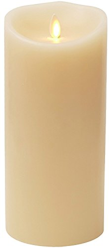 Luminara Flameless Vanilla Scented Moving Flame Candle With Timer (4