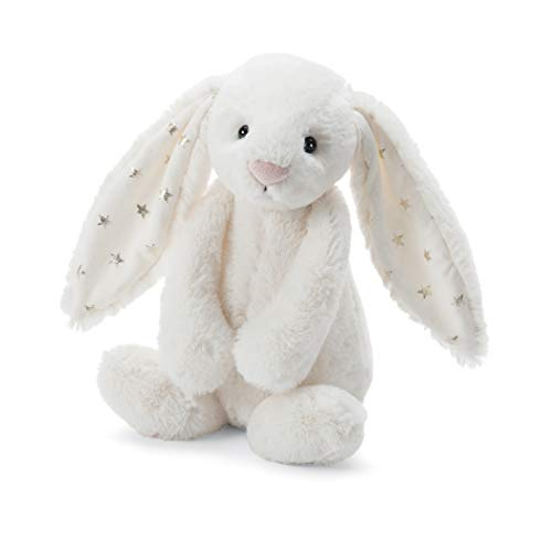 Jellycat Bashful Twinkle Bunny Chime Rattle Stuffed Animal, 10 inches