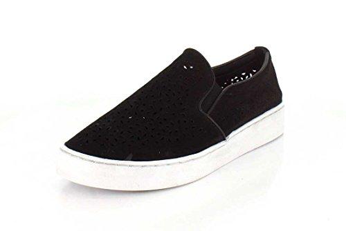 Vionic Kvinders Midi Perf Slip-on Sneaker Sort Perfed Nubuck JH31BQ4tV
