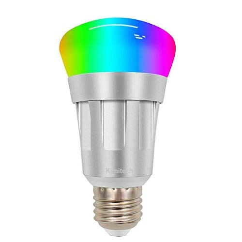 Kimitech Smart Bulb WiFi LED Light Bulb, Multi Color Dimmable No Hub Required A19 Smartphone Control and Voice Control Compatible with Alexa and Google Assistant