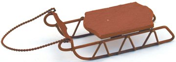 Miniature Sleigh - Darice Holiday Miniature Sleigh Wood Rustic Sled (1 Pack),