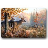 Deer Custom Personalized Washable Area Rug and Door mat (18x30inch) for Decorative Indoor Outdoor