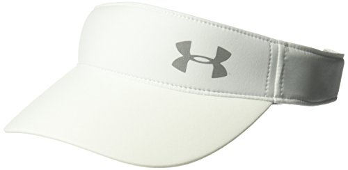 Under Armour Women's Fly-By Visor, White (100)/Silver, One Size -