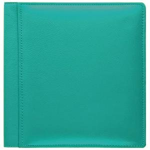 RODEO TURQUOISE pebble grain leather #133 magnetic page album by Raika® - by Raika®