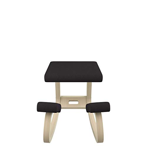 Varier Variable Balans Original Kneeling Chair Designed by Peter Opsvik (Black Revive Fabric with Natural Ash Base)