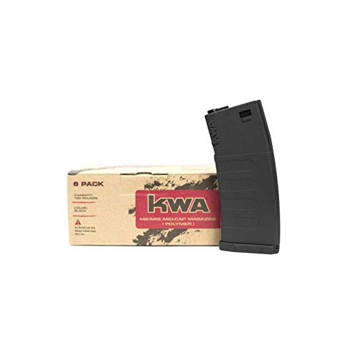 KWA K120 Polymer Airsoft Rifle Magazine, 6ct
