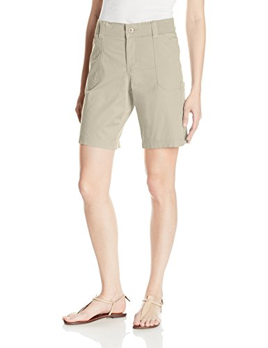 Riders by Lee Indigo Women's Cargo Pocket Bermuda Short, Driftwood, 10A (Pocket Bermuda Welt)