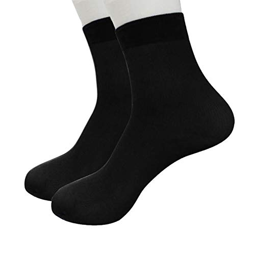 1 Pairs Men Bamboo Fiber Ultra-thin Elastic Silky Short Silk Stockings Socks By ()