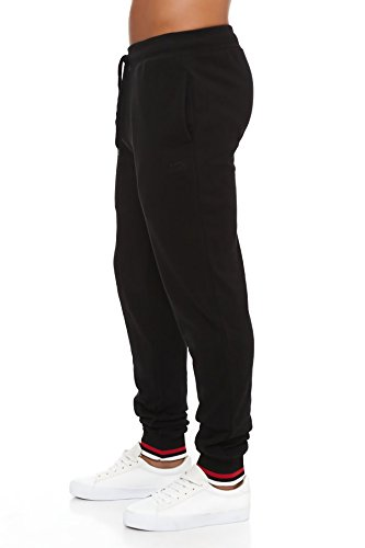 Pantalone sportivo da uomo LONSDALE colore nero LOUAI16716-1 in cotone. MEDIA WAVE store ®