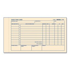 Time Card Pads, For Daily Time/2 Page, 4-1/4