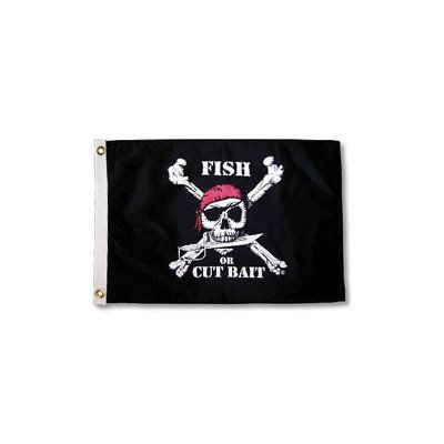 Taylor Made Products 1806, Pirate Heads Boat Flag, 12 inch x 18 inch, Fish or Cut Bait   B01M7YM1IL