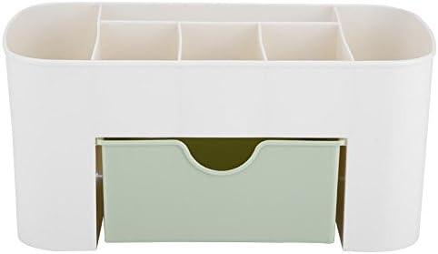 Yeehao Organizer für kosmetisches Make-up und Schmuck, multifunktionale Aufbewahrungsbox aus Kunststoff mit 6 Teilgittern zum Sortieren von Schmuck für den täglichen Bedarf(Grün)
