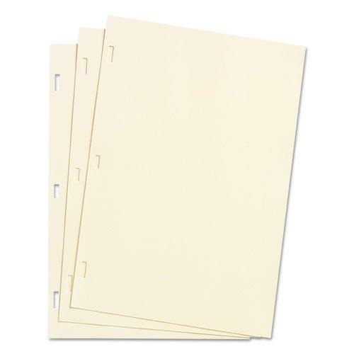 - Looseleaf Minute Book Ledger Sheets, Ivory Linen, 14 x 8-1/2, 100 Sheet/Box
