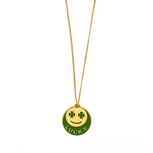 La Môme Bijou plaqué or et Laque Lucky Charm Collier de 48-48cm