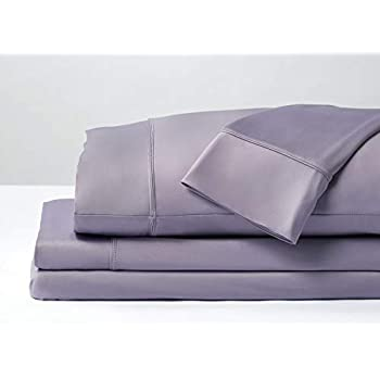 SHEEX Original Performance Sheet Set 2 Pillowcases, Ultra-Soft Fabric Transfers Body Heat Breathes Better Than Traditional Cotton, Lavender (King/Cal King)