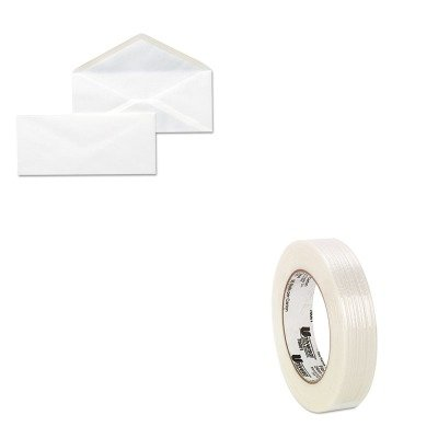 KITUNV35210UNV78001 - Value Kit - Universal Medium-Duty Filament Tape (UNV78001) and Universal Business Envelope (UNV35210) by Universal