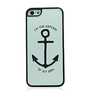 JJE Big Anchor Pattern Hard Case for iPhone 5/5S