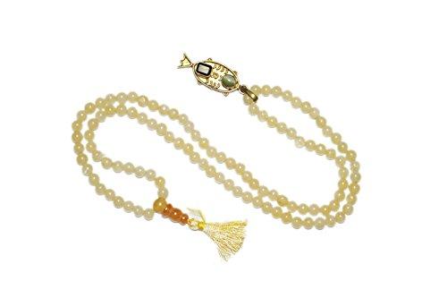 Intérieur Mogul Collier Mala tibétain Good Fortune japamala Love confiance poisson pendentif Doré 108+ 1