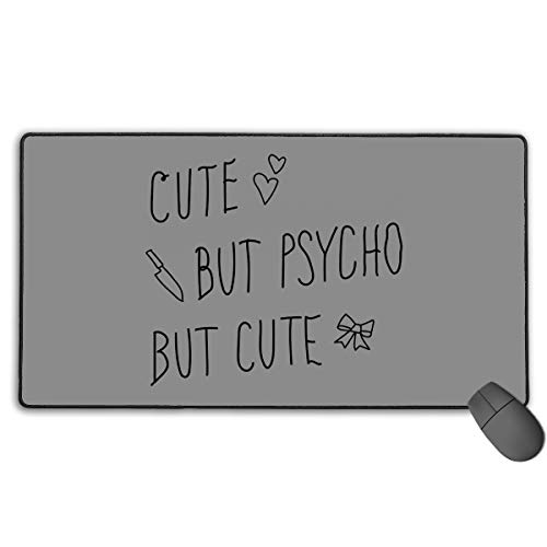 (GGlooking Mousemat Cute But Psycho Mouse Pad Gaming Mat Computer Mousepad Large Non-Slip Keyboard Desk Accessories,Office & School)