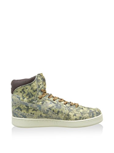 Diadora Sneaker Alta Mi Basket Foliage Pa Kaki/Verde/Marrone EU 43 (9 UK)