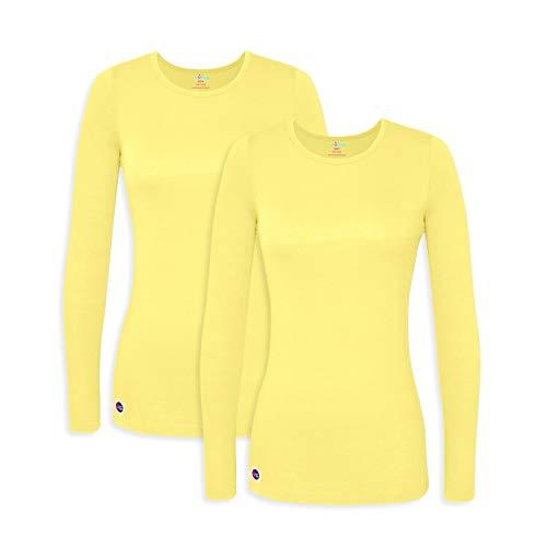 Awesome Long Sleeve T-shirt - Sivvan 2 Pack Women's Comfort Long Sleeve T-Shirt/Underscrub Tee - S8500-2 - CTN - XL