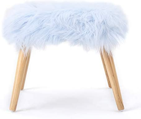 Christopher Knight Home Huxley Faux Fur Ottoman