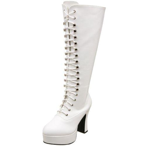 WIDE Platform Heels Boots Club 1970's White Dress FIT Fancy xATwvP7nq