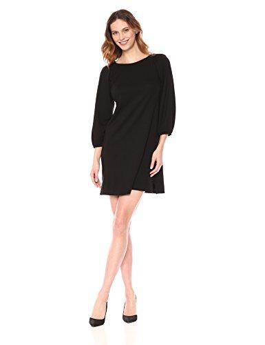 Eliza J Women's Balloon Sleeve Shift Dress, Black, 14