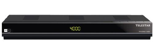 Telestar Teledigi 4 HD+ digitaler HD+ Sat-Receiver (CI+,HDMI,USB 2.0, PVR ready, inkl. HD+ Karte für 6 Monate) schwarz