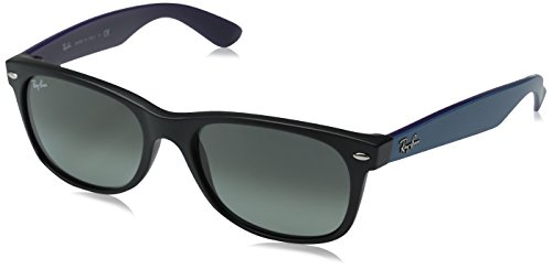 Ray-Ban RB2132 New Wayfarer Sunglasses, Matte Black/Grey Gradient, 55 mm