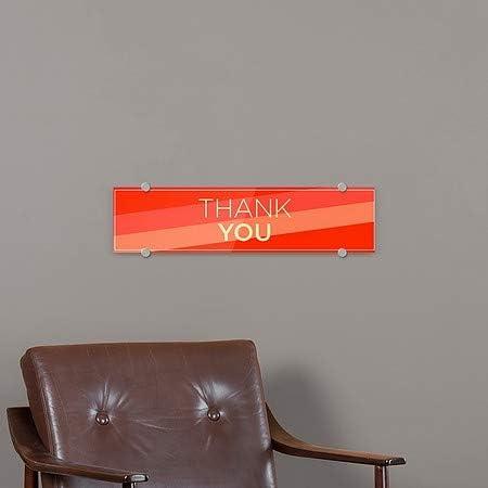 Modern Diagonal Premium Brushed Aluminum Sign Thank You CGSignLab 24x6 5-Pack